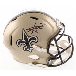 Alvin Kamara Signed New Orleans Saints Full Size Speed Helmet (JSA COA)