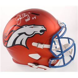 "John Elway Signed Broncos Full-Size Blaze Speed Helmet Inscribed ""HOF 04"" (Beckett COA)"