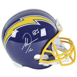 Antonio Gates Signed Chargers Throwback Full-Size Helmet (Beckett COA)