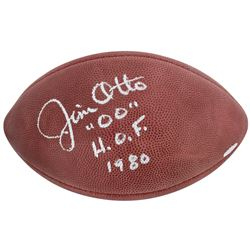 "Jim Otto Signed Official NFL Game Ball Inscribed ""H.O.F. 1980"" (Beckett COA)"