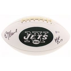 "Kevin Mawae Signed Jets Logo Football Inscribed ""HOF 2017"" (Beckett COA)"