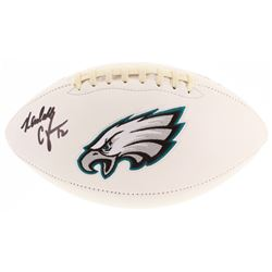 Randall Cunningham Signed Eagles Logo Football (Beckett COA)