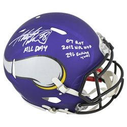 Adrian Peterson Signed Vikings Full-Size Authentic On-Field Speed Helmet with Multiple Inscriptions