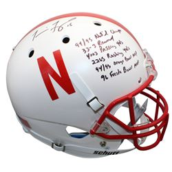 Tommie Frazier Signed Nebraska Cornhuskers Full-Size Helmet with Multiple Career Stat Inscriptions (