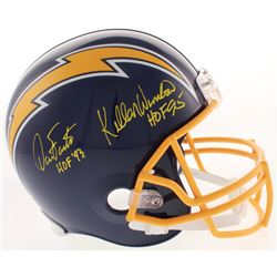 "Dan Fouts  Kellen Winslow Signed San Diego Chargers Full-Size Throwback Helmet Inscribed ""HOF 93""  H"