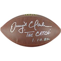 "Dwight Clark Signed NFL Football Inscribed ""The Catch""  ""1.10.82"" (PSA COA)"