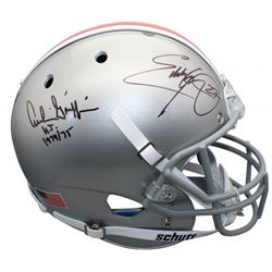 "Archie Griffin  Eddie George Signed Ohio State Buckeyes Full-Size Helmet Inscribed ""HT 1974/75"" (Bec"