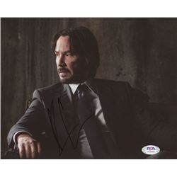 "Keanu Reeves Signed ""John Wick"" 8x10 Photo (PSA Hologram)"