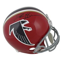 Deion Sanders Signed Falcons Throwback Full-Size Helmet (Beckett COA)