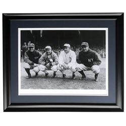 "Babe Ruth  Lou Gehrig ""Golden Age"" Historical Photo Archive 21x27 Custom Framed Giclee Display (Hist"
