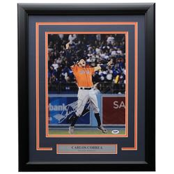 Carlos Correa Signed Astros 16x20 Custom Framed Photo Display (PSA COA)