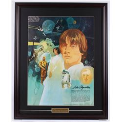 Vintage 1977 Coca Cola Star Wars 24.5x30.5 Custom Framed Poster Display