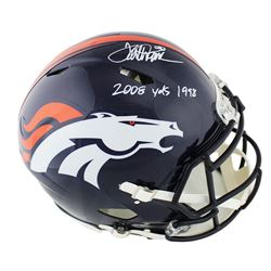 "Terrell Davis Signed Broncos Full-Size Authentic On-Field Speed Helmet Inscribed ""2008 Yds 1998"" (Ra"