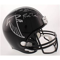 "Deion Sanders Signed Falcons Throwback Full-Size Helmet Inscribed ""Prime Time"" (Beckett COA)"