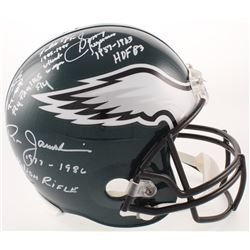 Eagles Quarterbacks Full-Size Helmet Team-Signed by (4) with Sonny Jurgensen, Randall Cunningham, Do