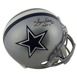 "Tony Dorsett Signed Cowboys Full-Size Helmet Inscribed ""HOF 94"" (Beckett COA)"