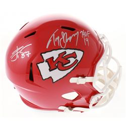 Tony Gonzalez  Travis Kelce Signed Chiefs Full-Size Speed Helmet (Beckett COA)