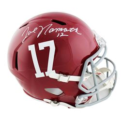 Joe Namath Signed Alabama Crimson Tide Full-Size Speed Helmet (Beckett COA)