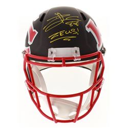 "Travis Kelce Signed Chiefs Full-Size AMP Alternate Speed Helmet Inscribed ""Zeus!"" (Beckett COA)"