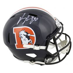Phillip Lindsay Signed Broncos Color Rush Full-Size Speed Helmet (JSA COA)