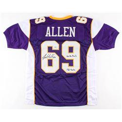"Jared Allen Signed Jersey Inscribed ""5x Pro Bowls""  ""136 Stacks"" (Beckett COA)"