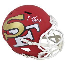 George Kittle Signed 49ers Full-Size AMP Alternate Speed Helmet (Beckett COA)