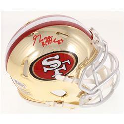 George Kittle Signed 49ers Chrome Speed Mini Helmet (Beckett COA)