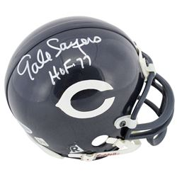 "Gale Sayers Signed Bears Mini Helmet Inscribed ""HOF 77"" (Beckett COA)"