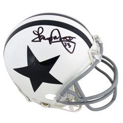 Tony Dorsett Signed Cowboys Mini Helmet (Beckett COA)