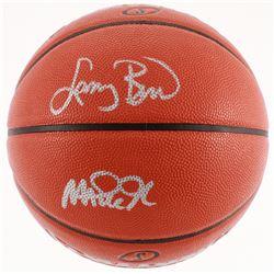 Larry Bird  Magic Johnson Signed NBA Game Ball Series Basketball (Beckett COA)