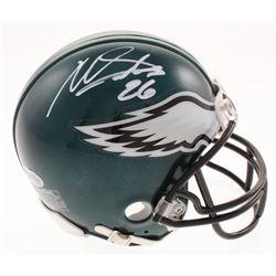Miles Sanders Signed Eagles Mini Helmet (Beckett COA)