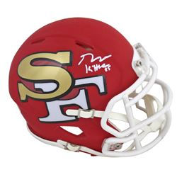 George Kittle Signed 49ers AMP Alternate Speed Mini Helmet (Beckett COA)