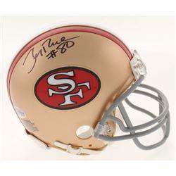 Jerry Rice Signed 49ers Mini Helmet (Beckett COA)