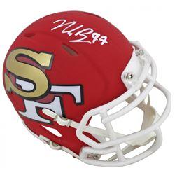 Nick Bosa Signed 49ers AMP Alternate Speed Mini Helmet (Beckett COA)
