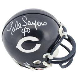 Gale Sayers Signed Bears Mini Helmet (Beckett COA)