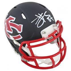 Travis Kelce Signed Chiefs AMP Alternate Speed Mini Helmet (Beckett COA)