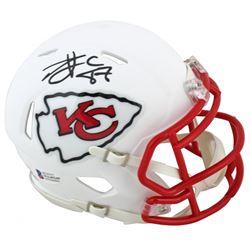 Travis Kelce Signed Chiefs Matte White Speed Mini Helmet (Beckett COA)