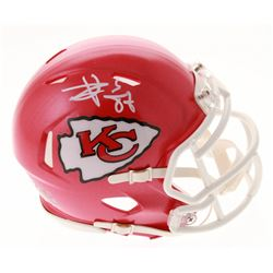 Travis Kelce Signed Chiefs Speed Mini Helmet (Beckett COA)