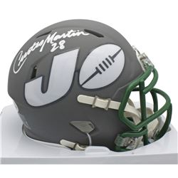 Curtis Martin Signed Jets AMP Alternate Speed Mini Helmet (Beckett COA)