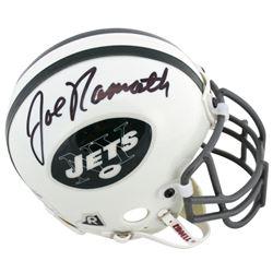 Joe Namath Signed Jets Mini Helmet (Beckett COA)