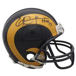 "Eric Dickerson Signed Rams Mini Helmet Inscribed ""HOF 99"" (Beckett COA)"