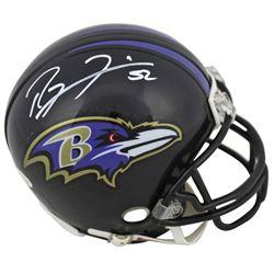 Ray Lewis Signed Ravens Mini-Helmet (Beckett COA)