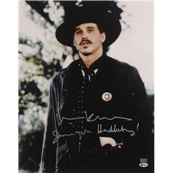 "Val Kilmer Signed ""Tombstone"" 16x20 Photo Inscribed ""I'm Your Huckleberry"" (Beckett COA)"