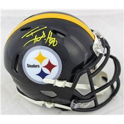 T.J. Watt Signed Steelers Speed Mini Helmet (Beckett COA)