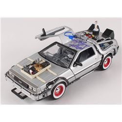 """Christopher Lloyd Signed """"Back to the Future"""" DeLorean Time Machine 1:24 Scale Die-Cast Car (Beckett"""