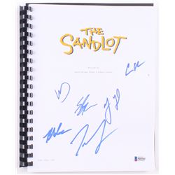 """""""The Sandlot"""" Movie Script Cast-Signed by (6) with Tom Guiry, Chauncey Leopardi, Marty York, Shane O"""