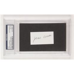 Hank Aaron Signed 1.5x2.5 Cut (PSA Encapsulated)