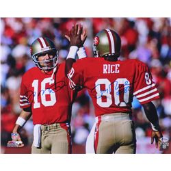 Joe Montana  Jerry Rice Signed 49ers 16x20 Photo (Beckett COA)