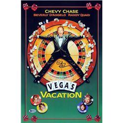 "Chevy Chase Signed ""Vegas Vacation"" 12x18 Photo (Beckett COA)"
