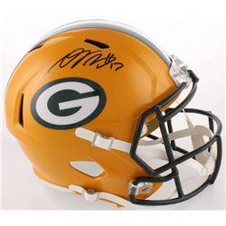 Davante Adams Signed Packers Full-Size Speed Helmet (JSA COA)
